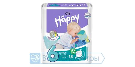 Подгузники BELLA baby Happy Adventure 6 (16+ кг) junior extra, 18 шт.
