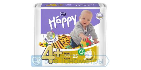 Подгузники BELLA baby Happy Fun 4+ (9-20 кг), maxi plus, 25 шт.